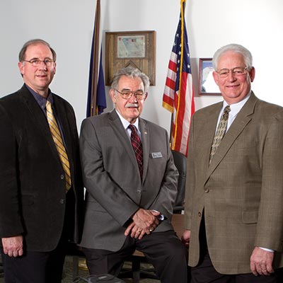 Tioga County Commissioners, from left, Mark Hamilton, Roger C. Bunn and Erick J. Coolidge.